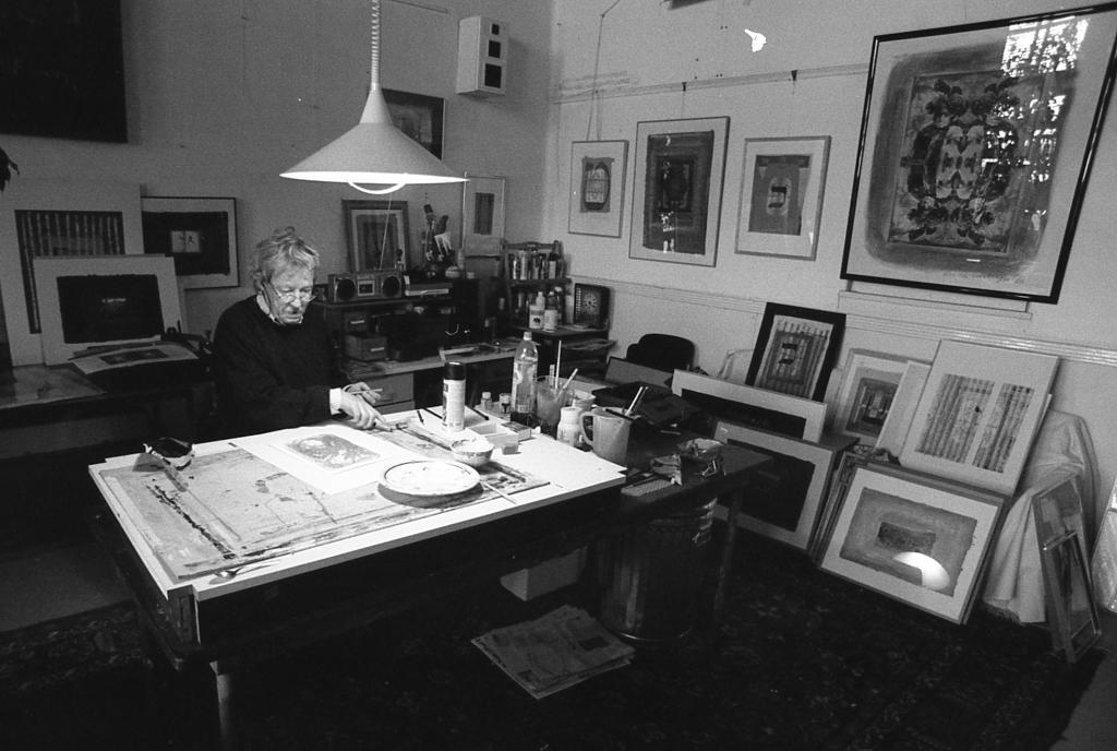 Erwin Verheijen in zijn atelier