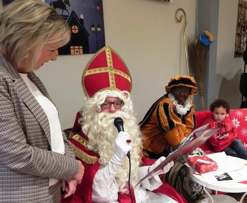 Sinterklaas op woon- zorgcentrum Groenelaan