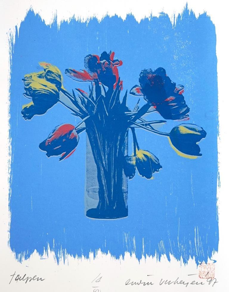erwin verheijen zeefdruk tulpen