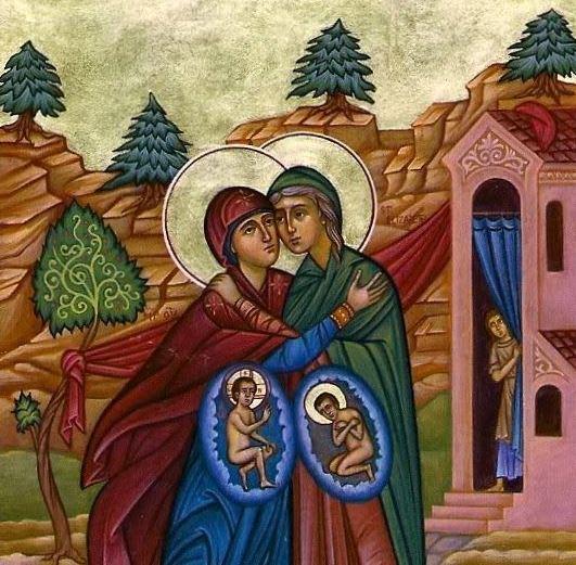 De Moeder Gods ontmoet haar nicht Elisabeth