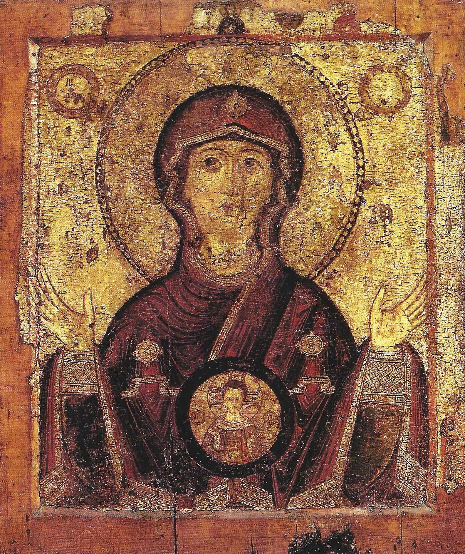 Moeder Gods van het teken, Novgorod 13e eeuw