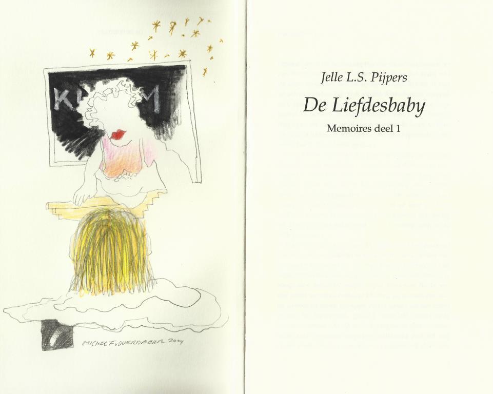 Michel van Overbeeke - tekening in de liefdesbaby